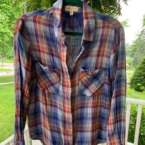 Cloth and Stone Plaid Button Down